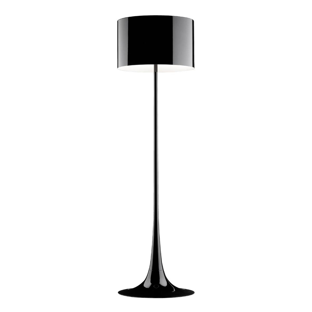Flos Spun Light F Stehleuchte, schwarz glänzend