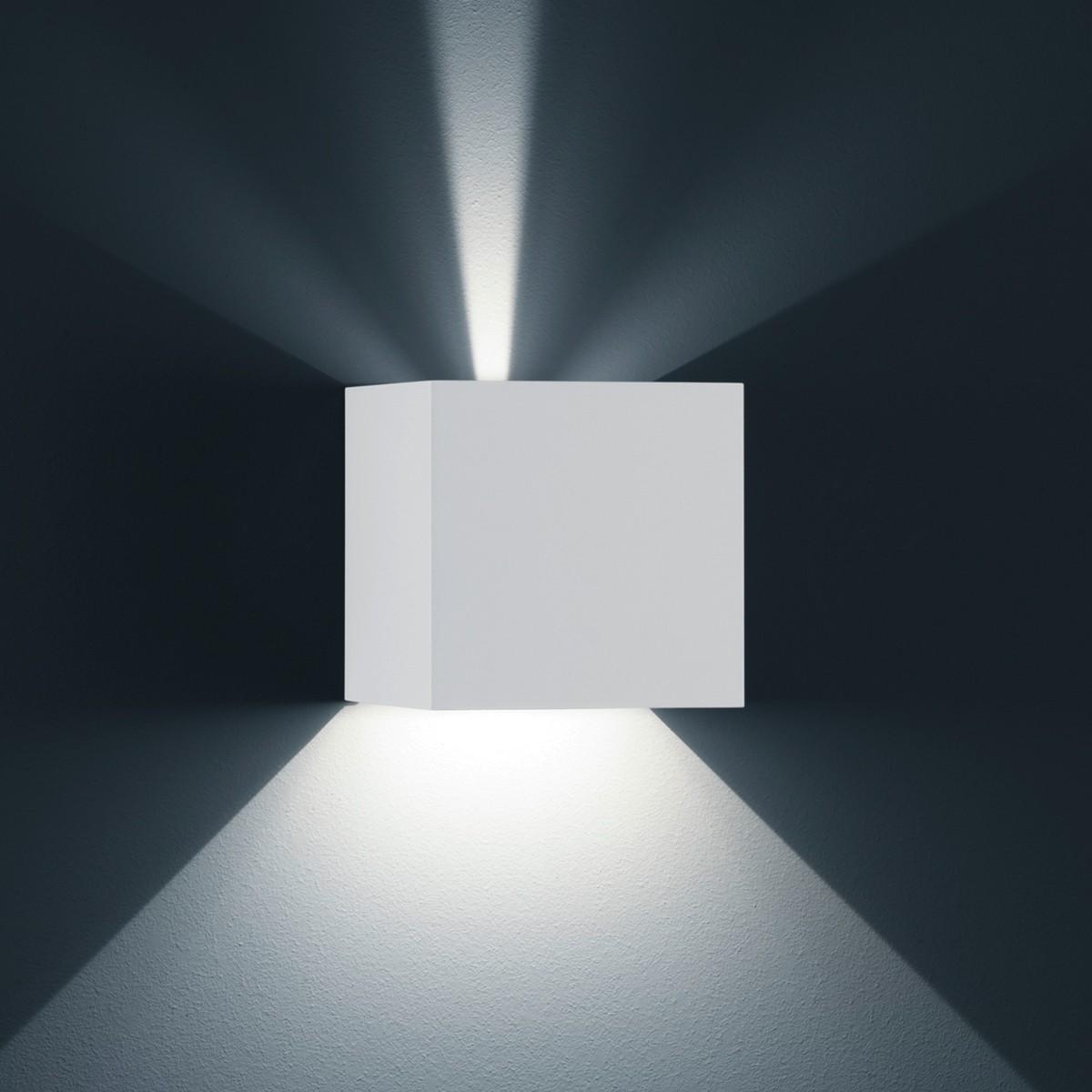 Helestra Siri 44 - L LED Außenwandleuchte, weiß matt