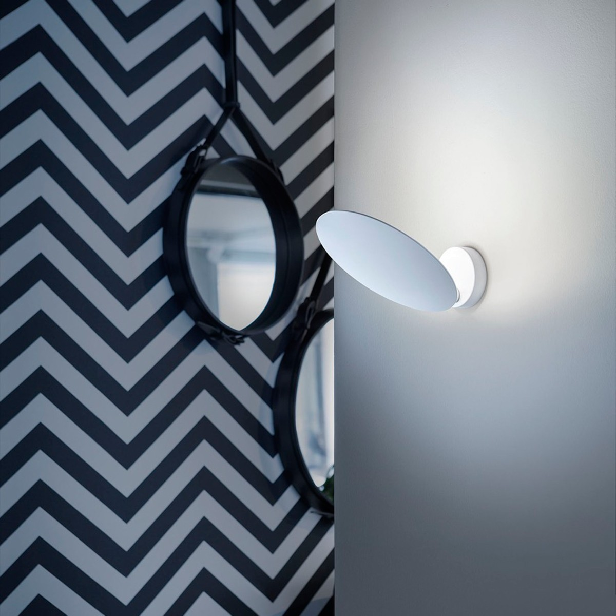 Studio Italia Design Puzzle Single Round Wandleuchte, weiß matt, 2700° K