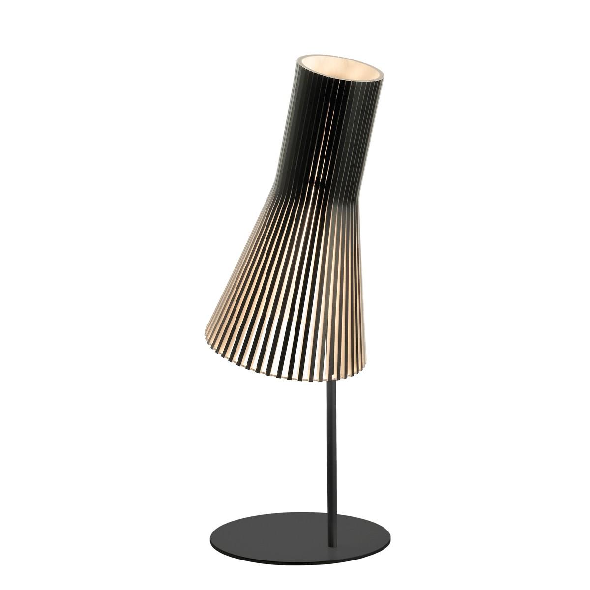 Secto Design Secto 4220 Tischleuchte, schwarz, Schirm: schwarz laminiert