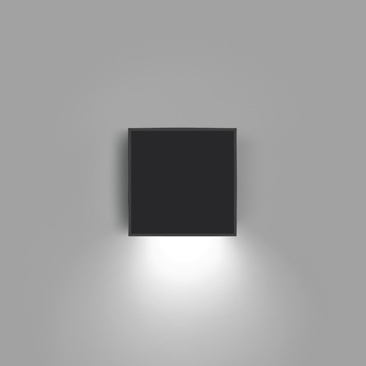 Vibia Alpha 7925 Wandleuchte, graphitgrau matt, Front: schwarz