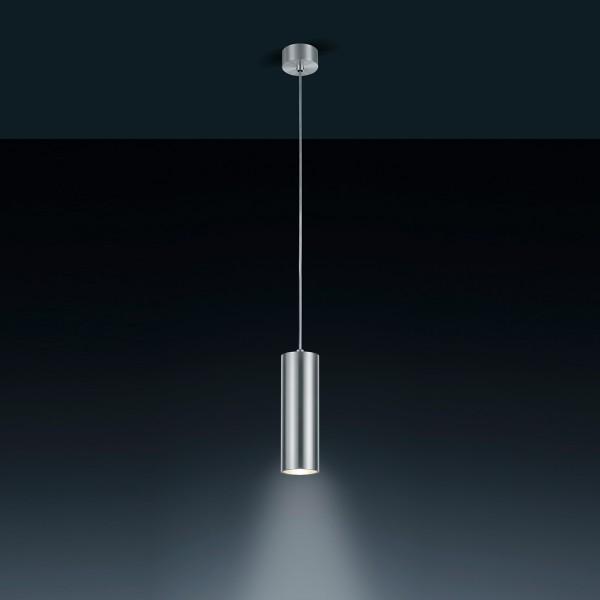 Helestra Oso Pendelleuchte, aluminium, Silikonkabel transparent