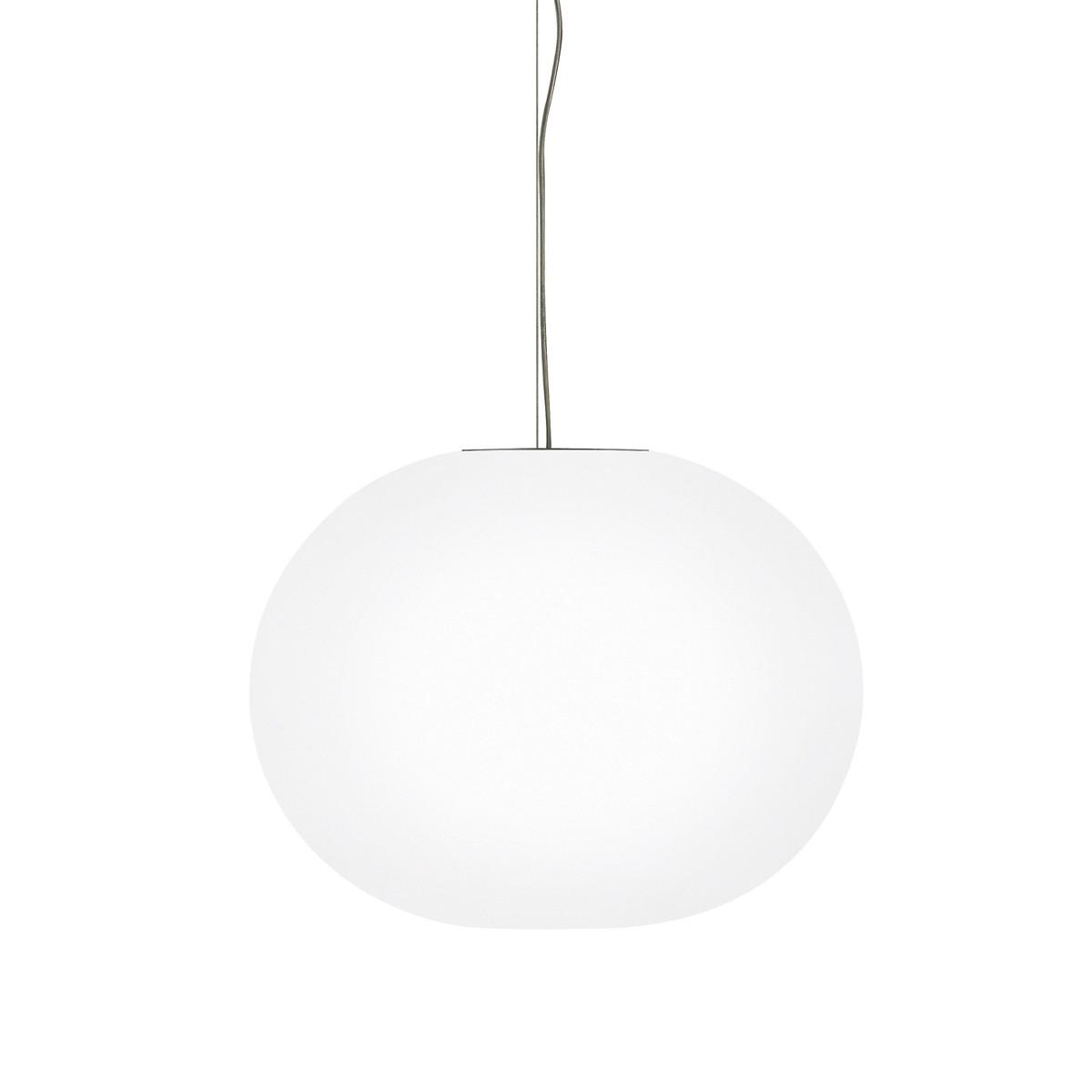 Flos Glo-Ball S Pendelleuchte, S1, Ø: 33 cm, weiß