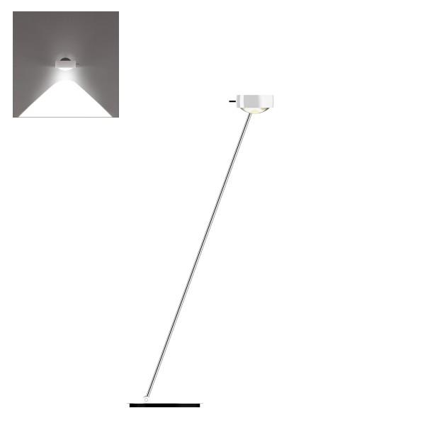 Occhio Sento C LED lettura, 125 cm, Chrom / weiß glänzend (Ausrichtung links)