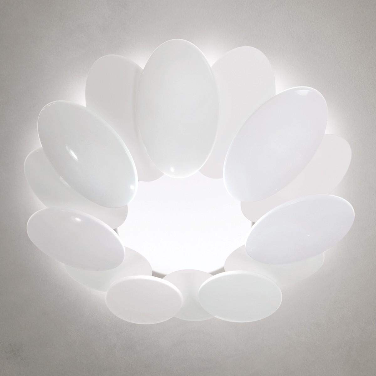 Milan Obolo Deckenleuchte, Ø: 42,4 cm, weiß lackiert