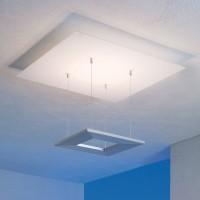 Zen Deckenleuchte 8-flg., Glas / Aluminium geschliffen, ohne Dimmer