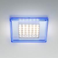 Quadriled Deckeneinbauleuchte LED, aquamarin
