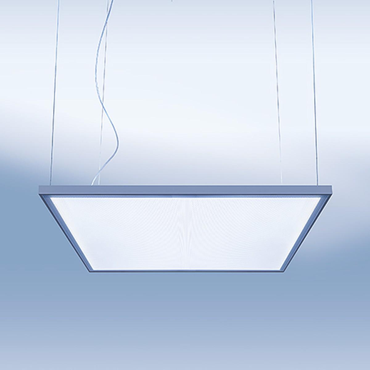 Lightnet Cubic-P2 Superflat Pendelleuchte, 58 x 58 cm, Aluminium natureloxiert