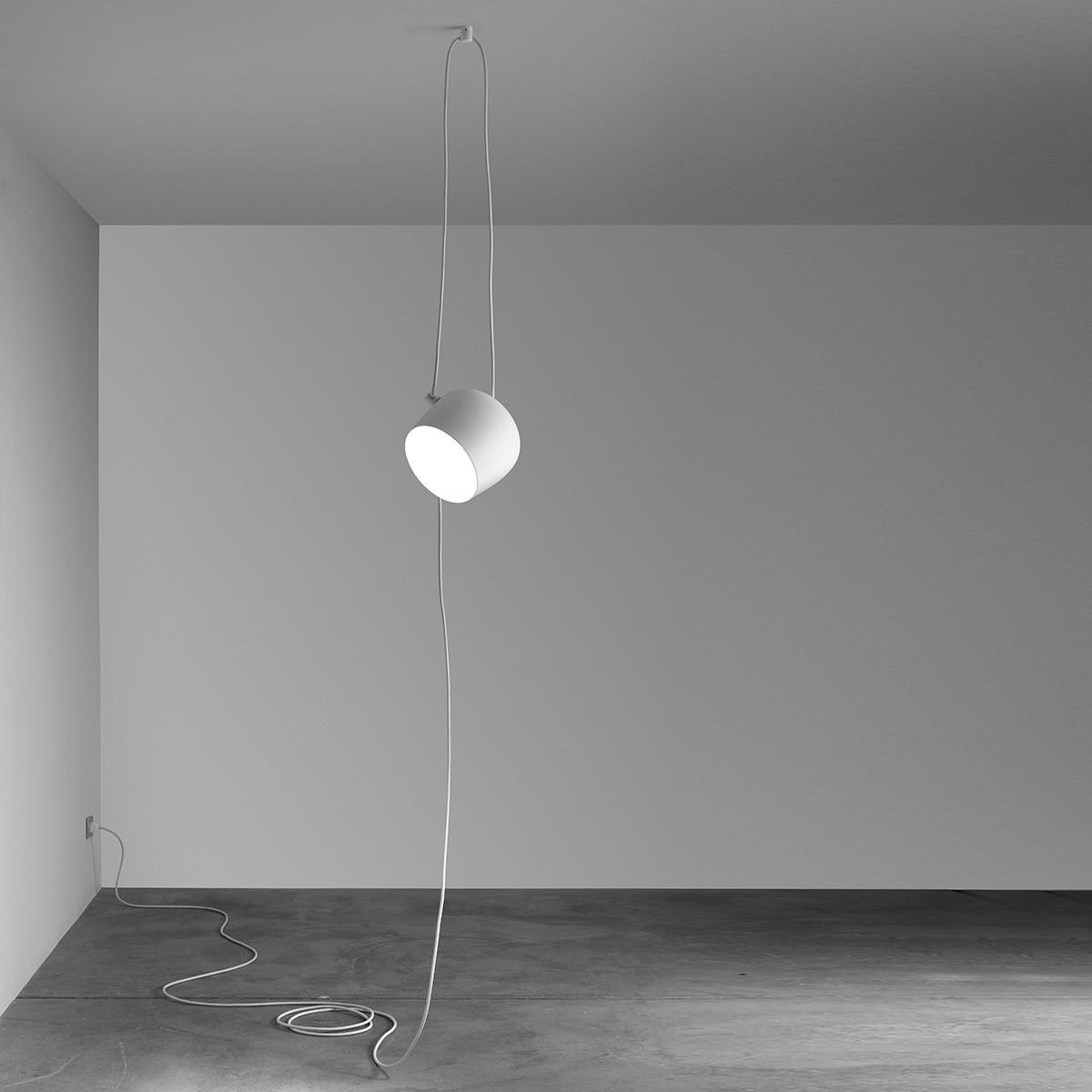 Flos Aim Cable + Plug Pendelleuchte, small, Ø: 17 cm, weiß
