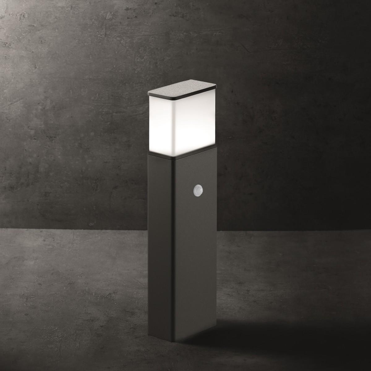 Lupia Licht Luka S Pollerleuchte, mit Sensor, anthrazit