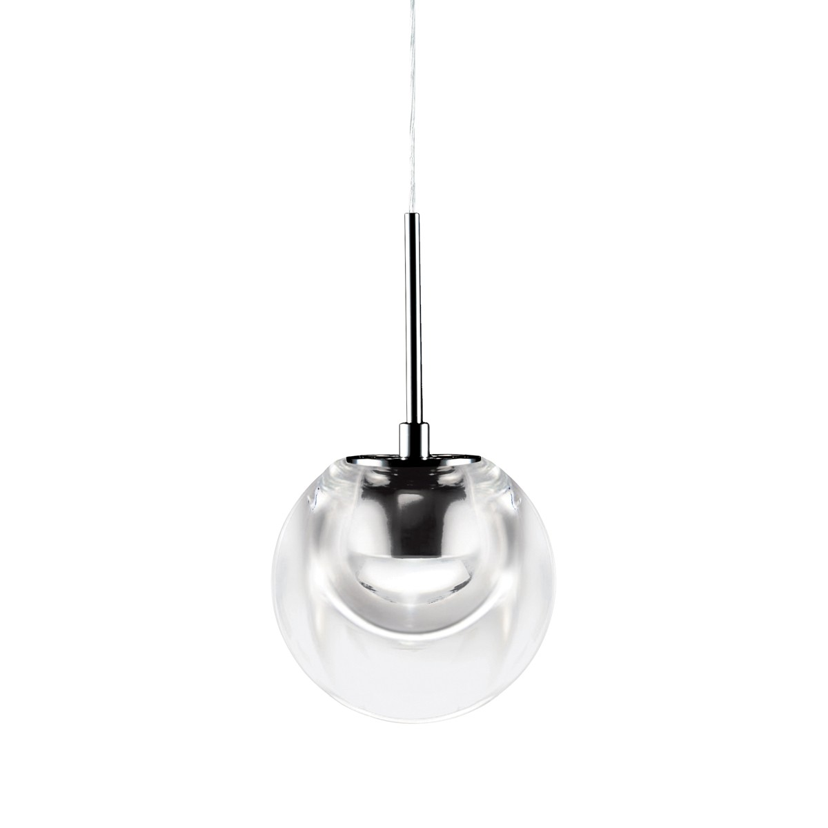 Kundalini Dew LED Pendelleuchte, Glas transparent