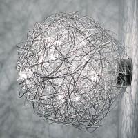 Fil de Fer Wand-/Deckenleuchte, Ø: 40 cm, Aluminium