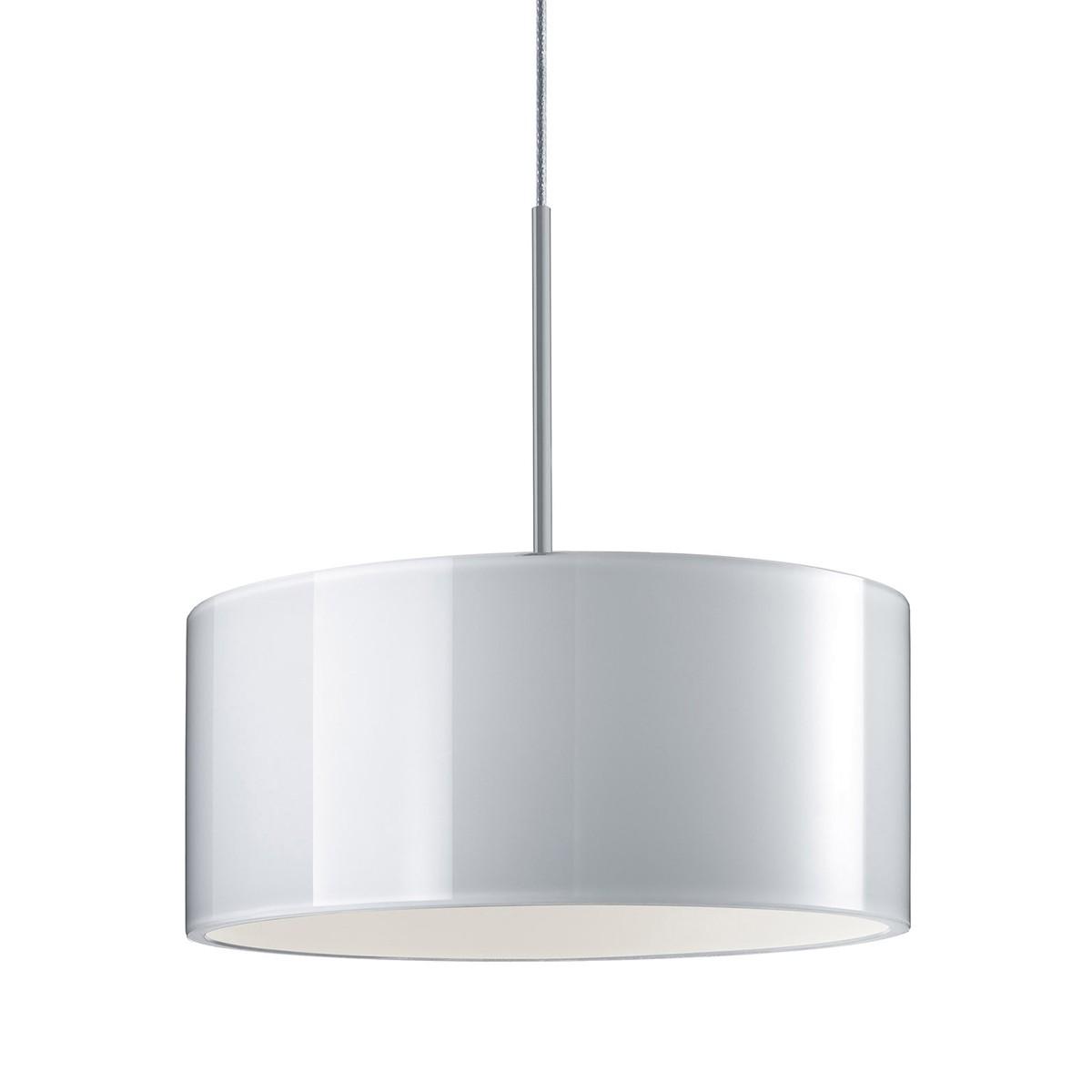 Bruck Duolare Cantara Glas Chrom matt Ø: 19 cm, LED Pendelleuchte, Glas: weiß
