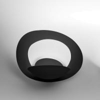 Pirce Micro Parete LED, schwarz