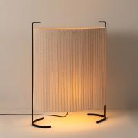 Milan Amid Tisch- / Steh- / Bodenleuchte, Höhe: 106 cm, beige / schwarz matt