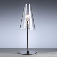 TLWS 03 Tischleuchte, Gestell: Nickel, Glas: Klarglas