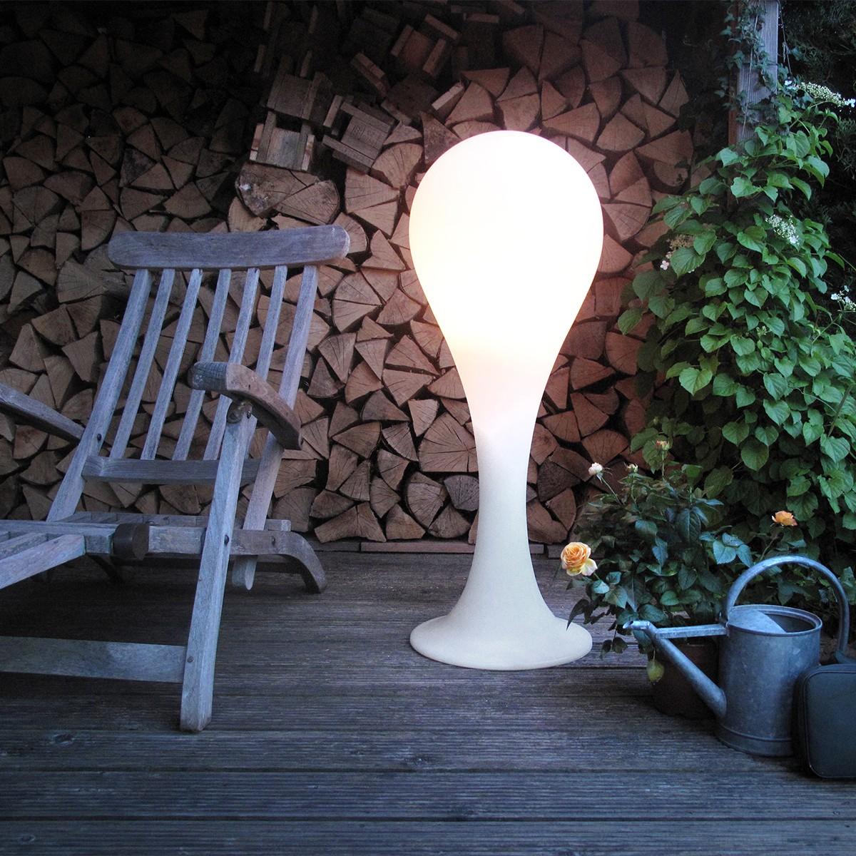 next Liquid Light Drop 4 Outdoor Stehleuchte, weiß