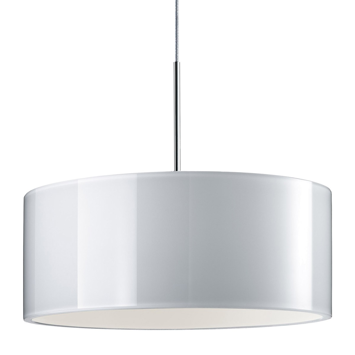 Bruck Duolare Cantara Glas Chrom Ø: 30 cm, LED Pendelleuchte, weiß
