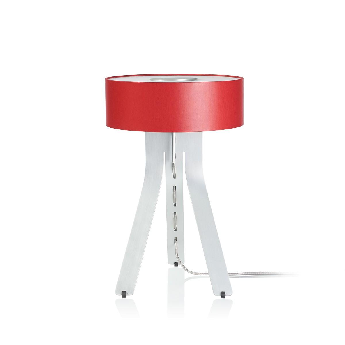 Byok Fino Tischleuchte, Alu matt, Korpus: Aluminium matt, Schirm: rot