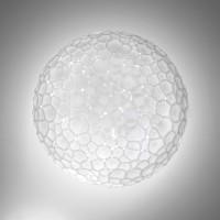 Meteorite Parete / Soffitto, Ø: 35 cm, weiß