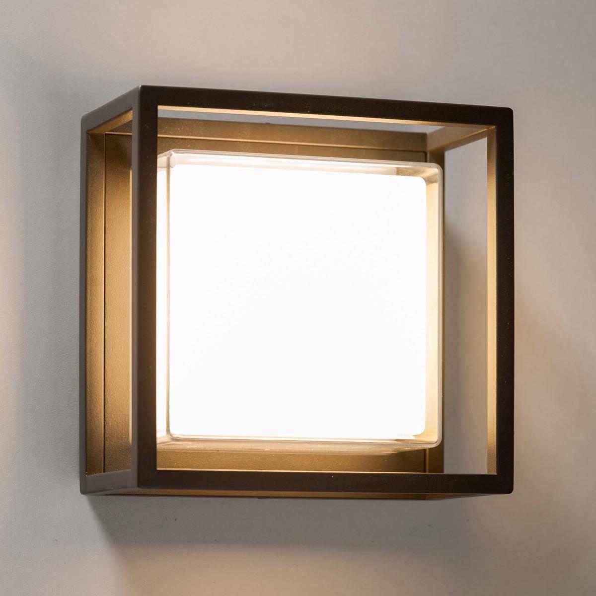 Lupia Licht Quadro W Außenwandleuchte, 20 x 20 cm, anthrazit