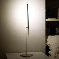 Magic Tischleuchte, LED neutral-weiß, Höhe: 65 cm, Nickel