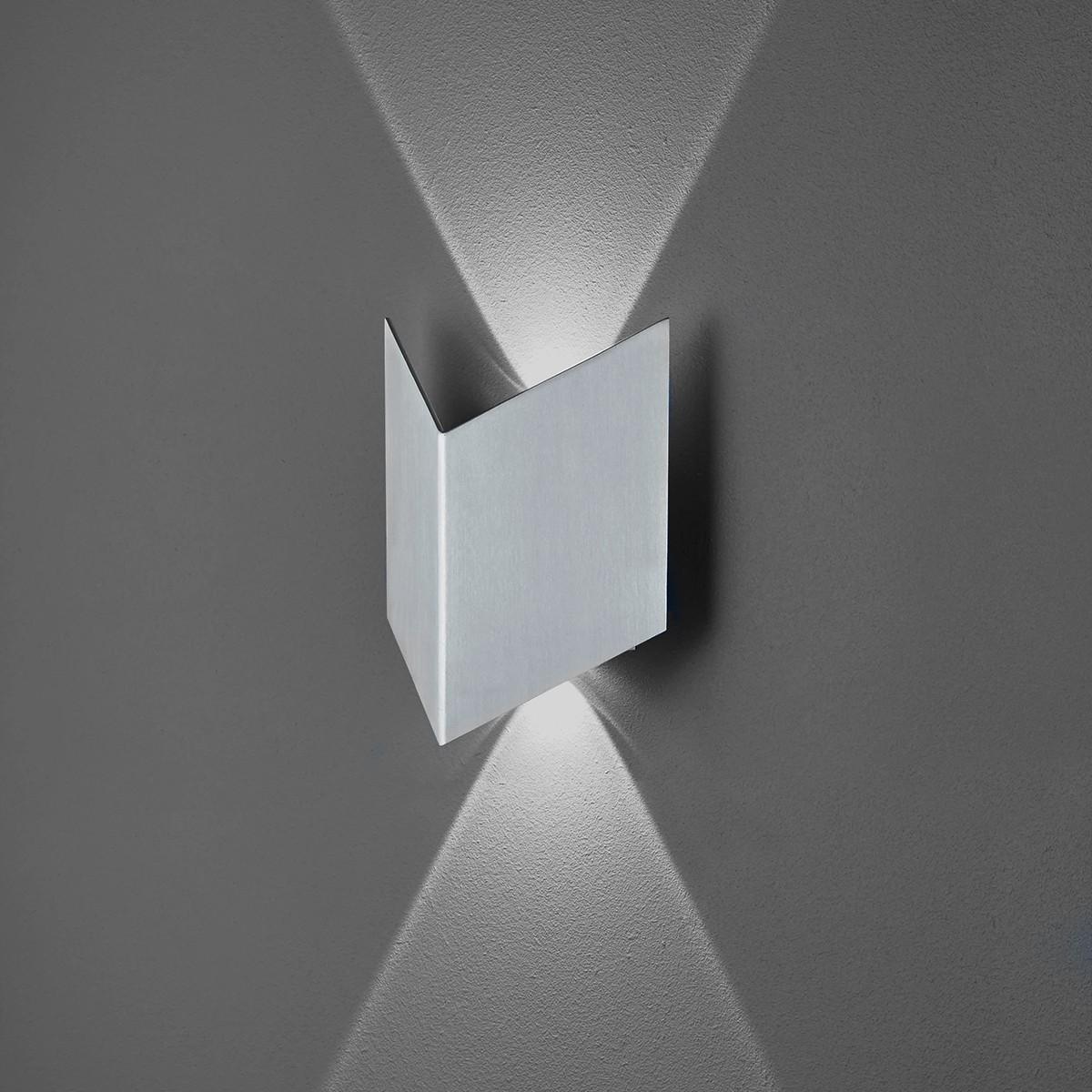 B-Leuchten Prince 40226 Wandleuchte, Aluminium