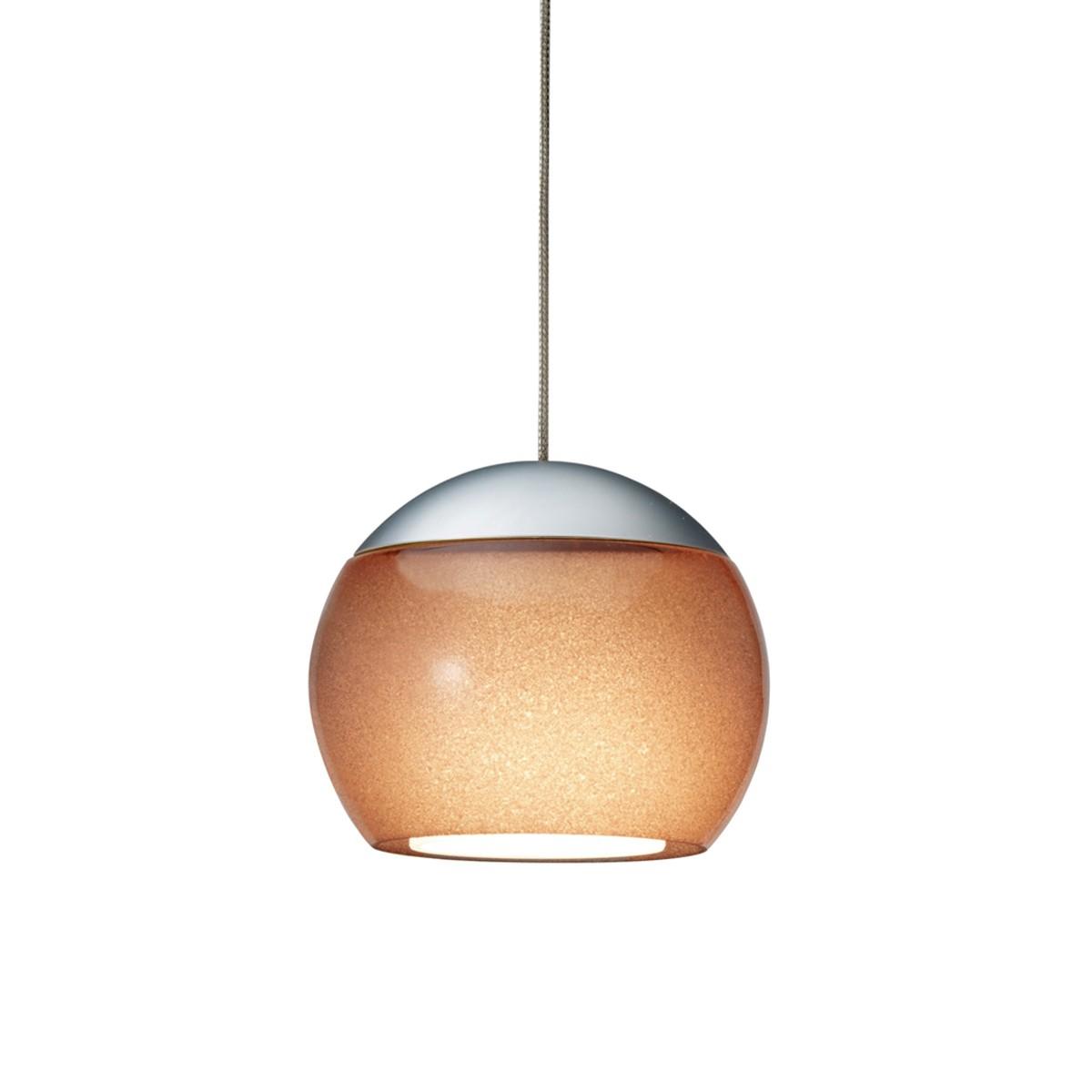 Oligo Balino LED Pendelleuchte, Chrom matt / Tabak glänzend
