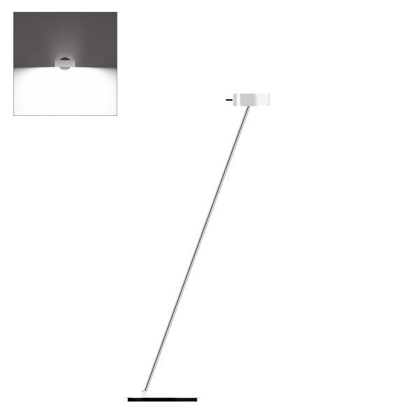Occhio Sento LED lettura, 125 cm, Chrom / weiß glänzend (Ausrichtung links)