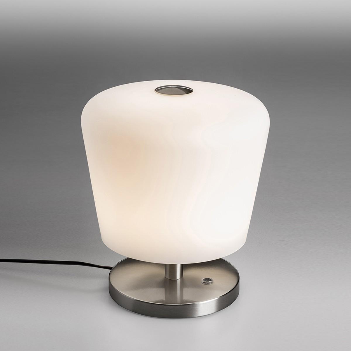 Lupia Licht Touch Tischleuchte, Höhe: 28 cm, Nickel matt