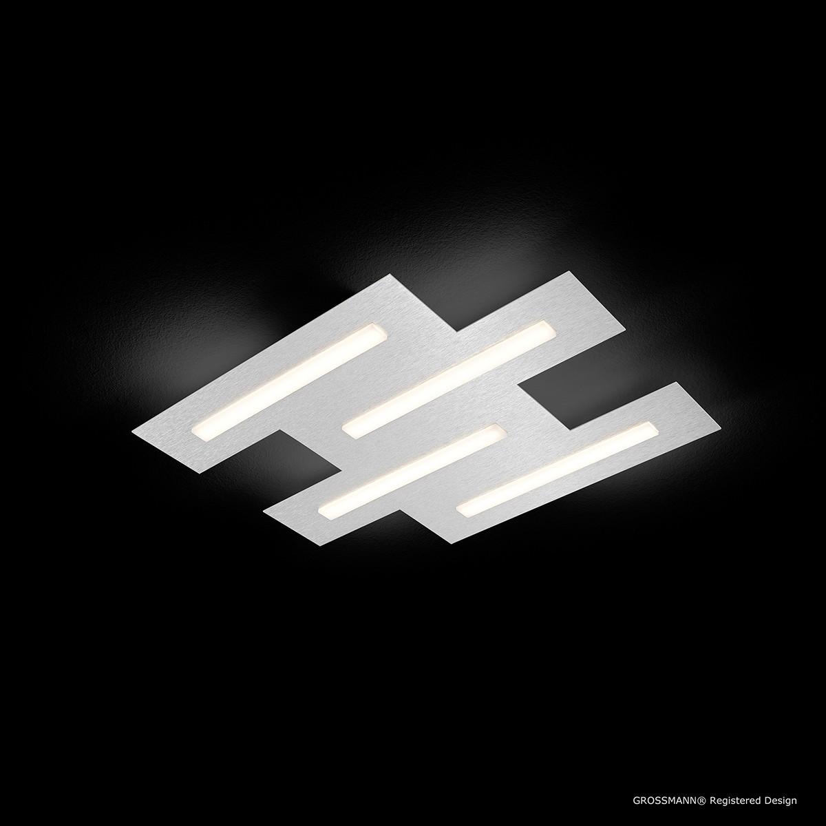 Grossmann Fis LED Deckenleuchte, 4-flg., Aluminium gebürstet