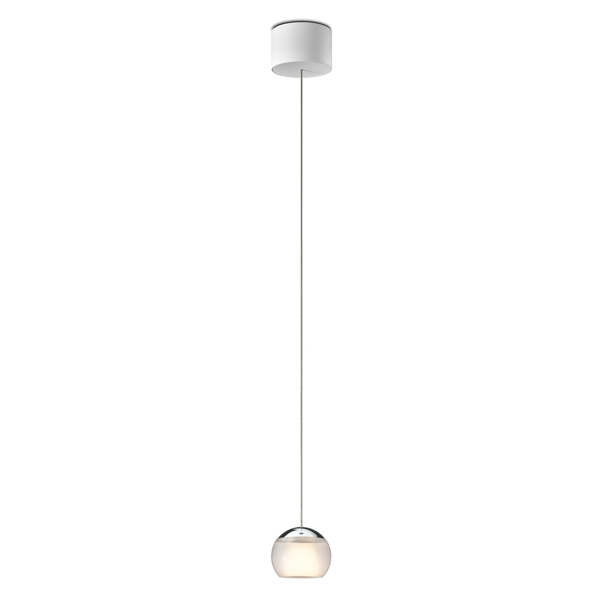 Oligo Balino LED Pendelleuchte, unsichtbare Höhenverstellung, Chrom / satiniert