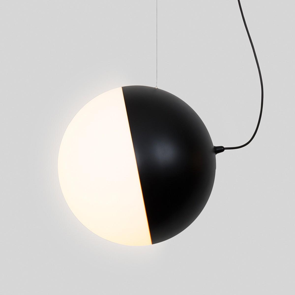 Milan Half Pendelleuchte, Ø 35 cm, 1-flg., schwarz