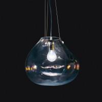 Bolla Pendelleuchte, Breite: 33 cm, Glas transparent