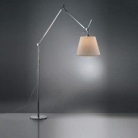 Tolomeo Mega Terra LED mit Schnurdimmer, Alu, Schirm: Pergament, Ø: 32 cm