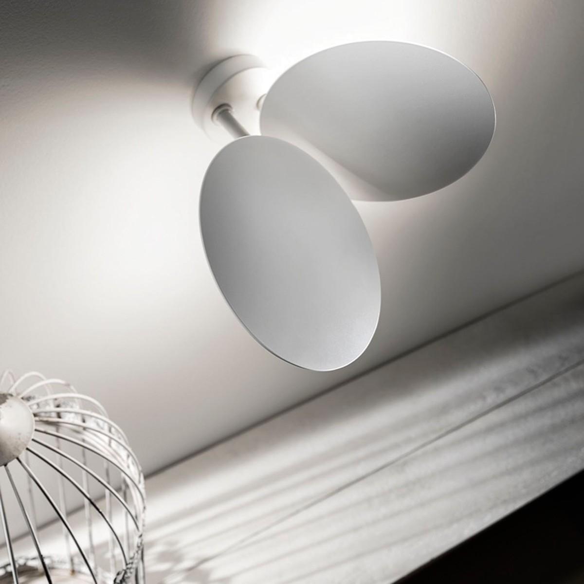 Studio Italia Design Puzzle Double Round Wand - / Deckenleuchte, weiß matt, 2700° K