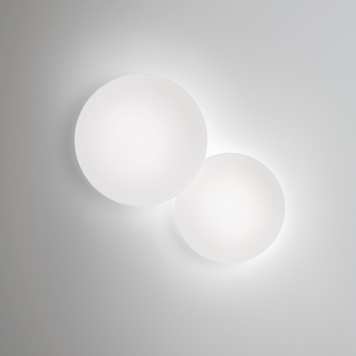 Vibia Puck LED Wandleuchte, 2-flg., weiß