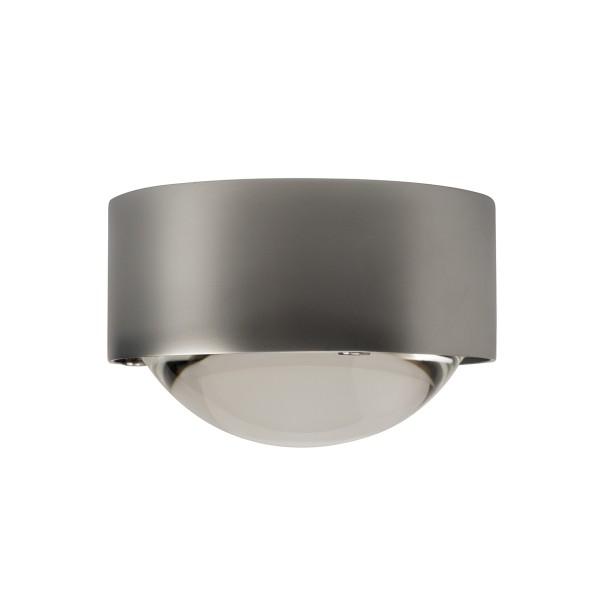 Top Light Puk One LED Deckenleuchte, Chrom matt, Linse klar