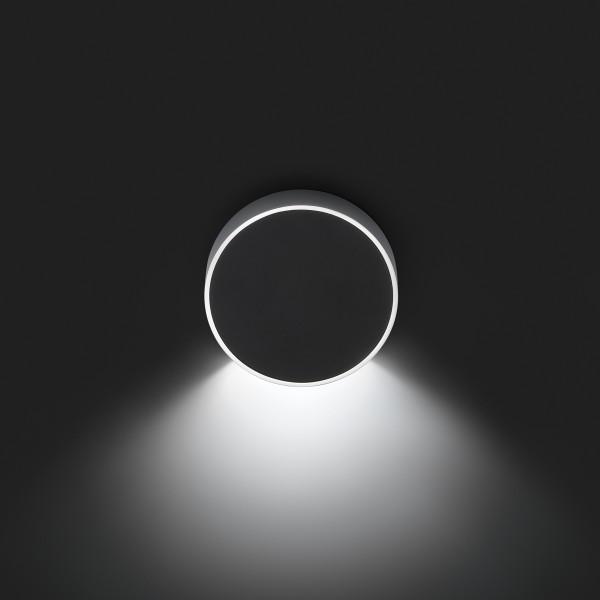Vibia Alpha 7920 Wandleuchte, Chrom, Front: schwarz matt