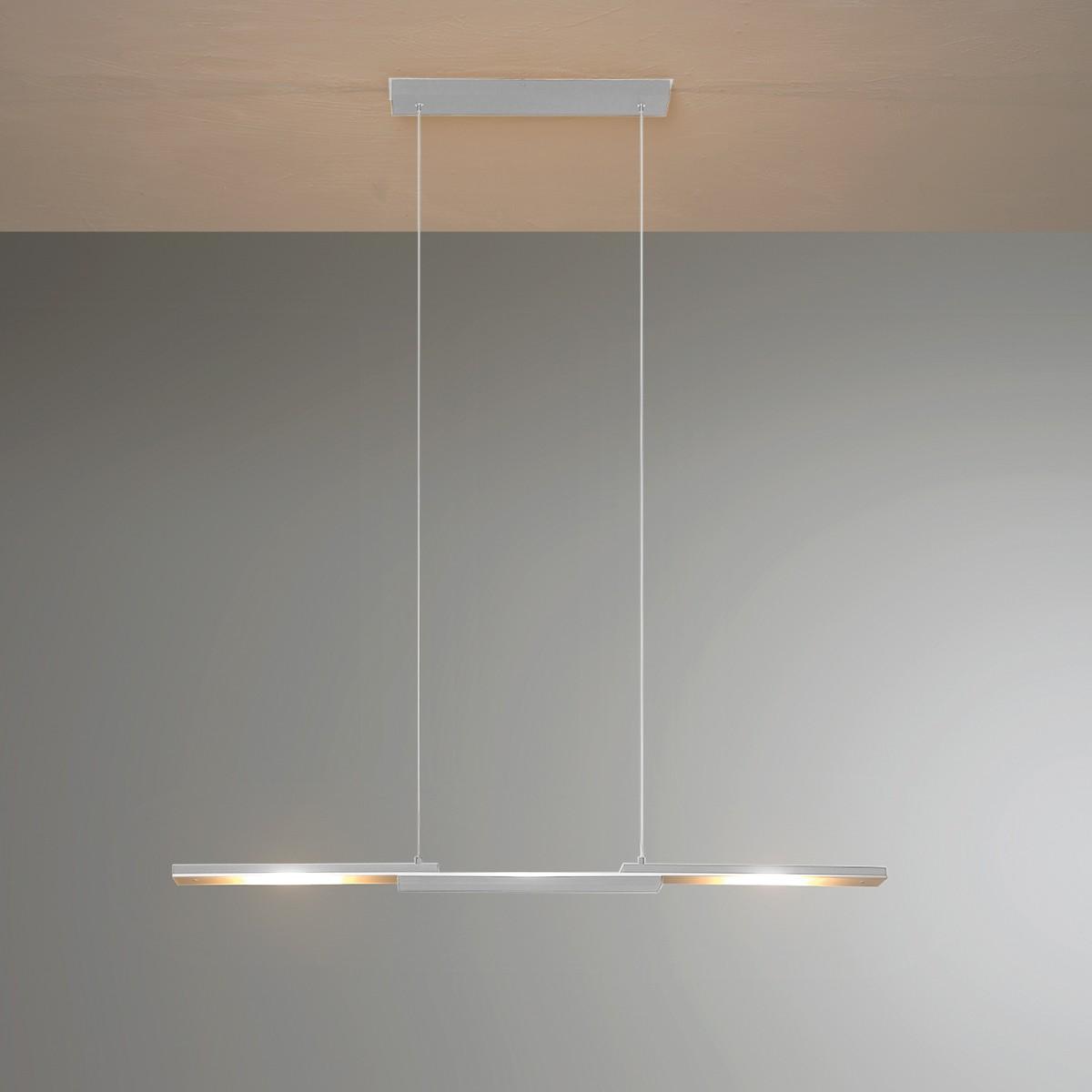 Bopp Easy LED Pendelleuchte, Aluminium geschliffen, Länge: 95 cm