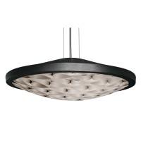 LZF Lamps Cervantes LED Pendelleuchte, Metallkörper: schwarz, innen: grau
