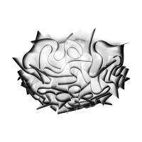 Veli Ceiling / Wall Medium, charcoal (schwarz)