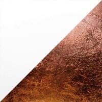 Lederam W Wand- / Deckenleuchte, Ø: 17 cm, Scheiben: weiß/Kupfer