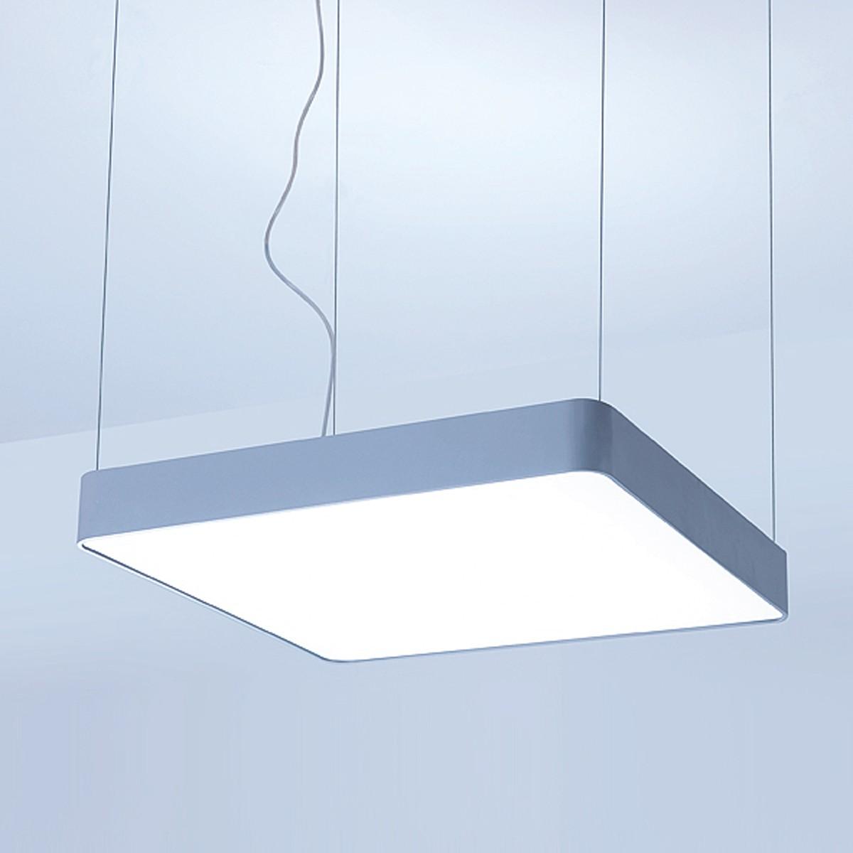 Lightnet Caleo-P2 Pendelleuchte, 90 x 90 cm, Silber matt