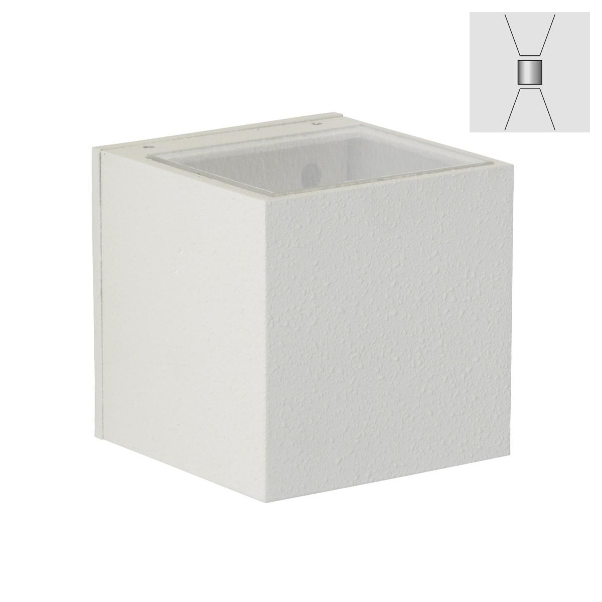 Albert 2372 Wandstrahler, breit/breit, weiß
