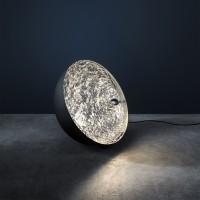 Stchu-Moon 01 Bodenleuchte, Ø: 40 cm, schwarz / Silber