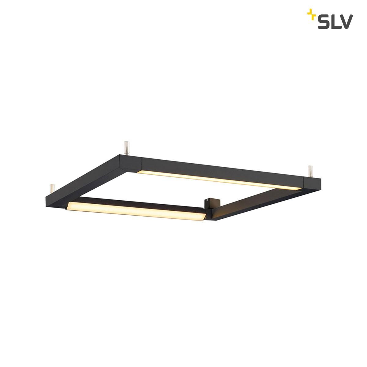 SLV Open Grill Wand- / Deckenleuchte, schwarz