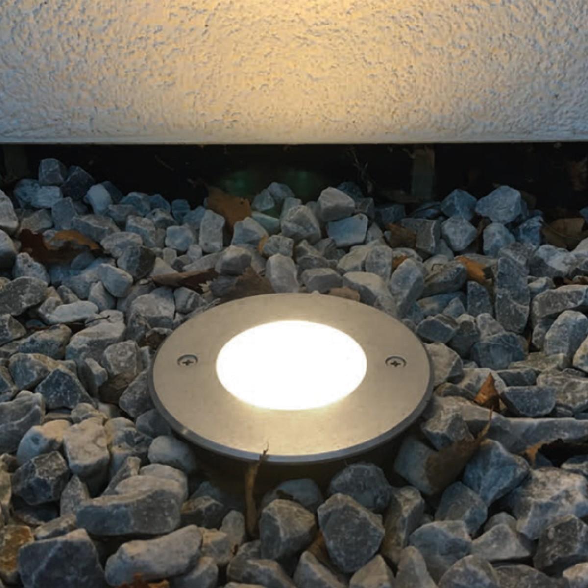 Mobilux LED Bodeneinbauleuchte R 240V Asym., Silber