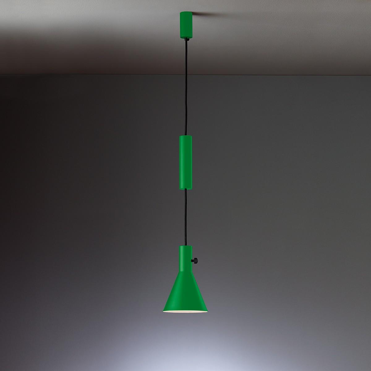 Tecnolumen Eleu Pendelleuchte, grün lackiert