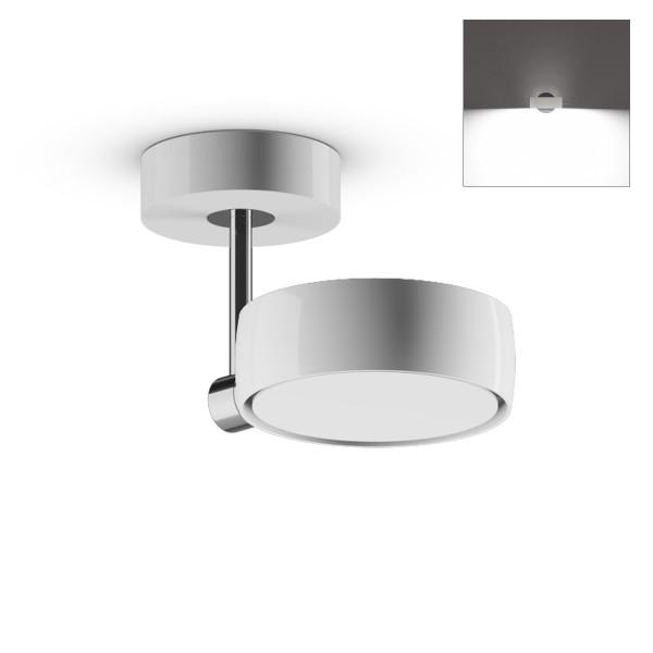 Occhio Sento B LED faro up, 10 cm, Chrom / weiß glänzend